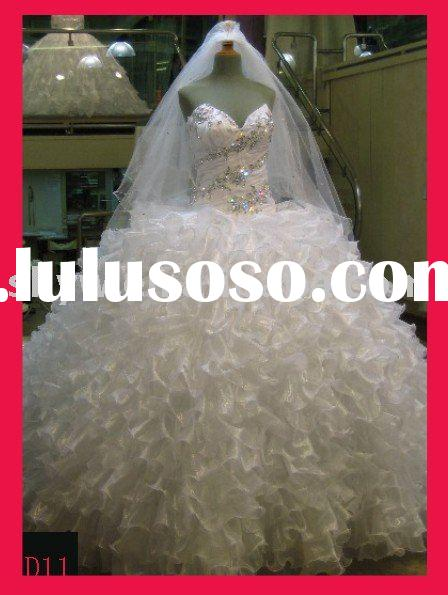 2011 Latest real manufacturer bridal wedding dress/gown