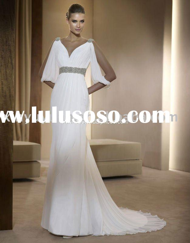 2011 New Fashion Wholesale Custom New Style Sleeve Chiffon Very Splendid wedding dress Evening Dress