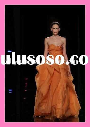2011 New Style Orange luxurious Fashion Dress Arabic Evening Gown