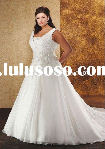 2011 elegant Superior quality Plus size wedding dress