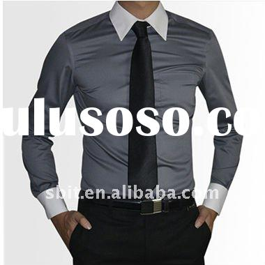 2011 fashion skintight dress shirts for men