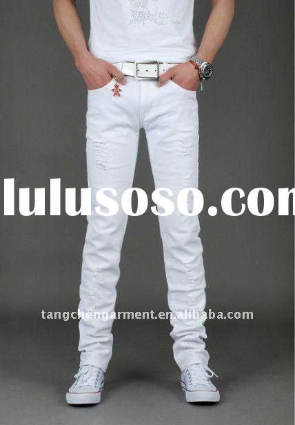 Collection Men Skinny White Jeans Pictures - Reikian