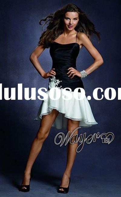 2012 Black White Short Prom Dress HL-PD468