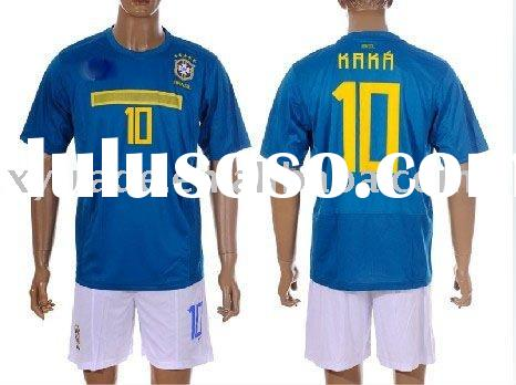 2012 Brazil blue away National Team Sports wear #10 kaka soccer jersey/shirt