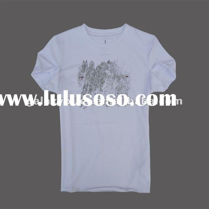2012 Fashion 100% Cotton Custom Men's Brand T-shirts tshirt tee shirt New Style Men brand t-