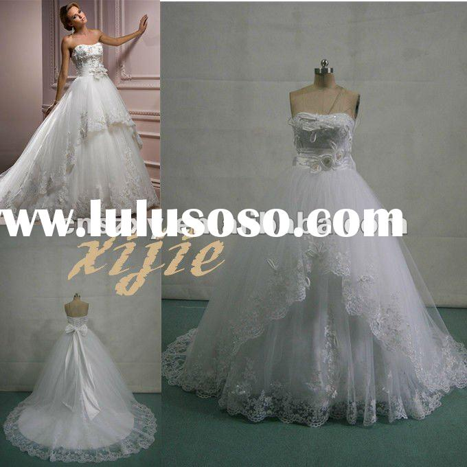 2012 Latest New Arrival Off the Shoulder Top Ball Gown Big Skirt Lace Gorgeous Wedding Dresses