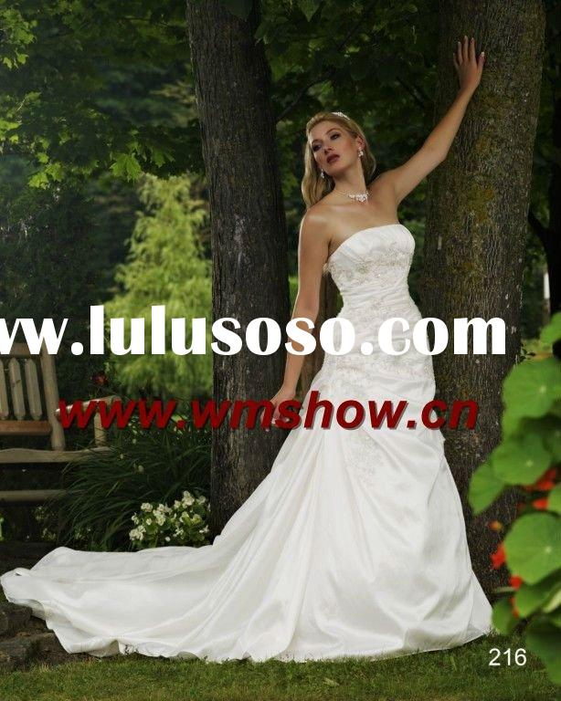 2012 Latest Style Strapless Wedding Gowns And Bridal Dress