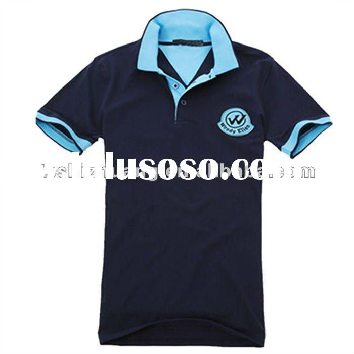 2012 fashion new stylish polo collar short sleeve bulk blank t-shirts for men
