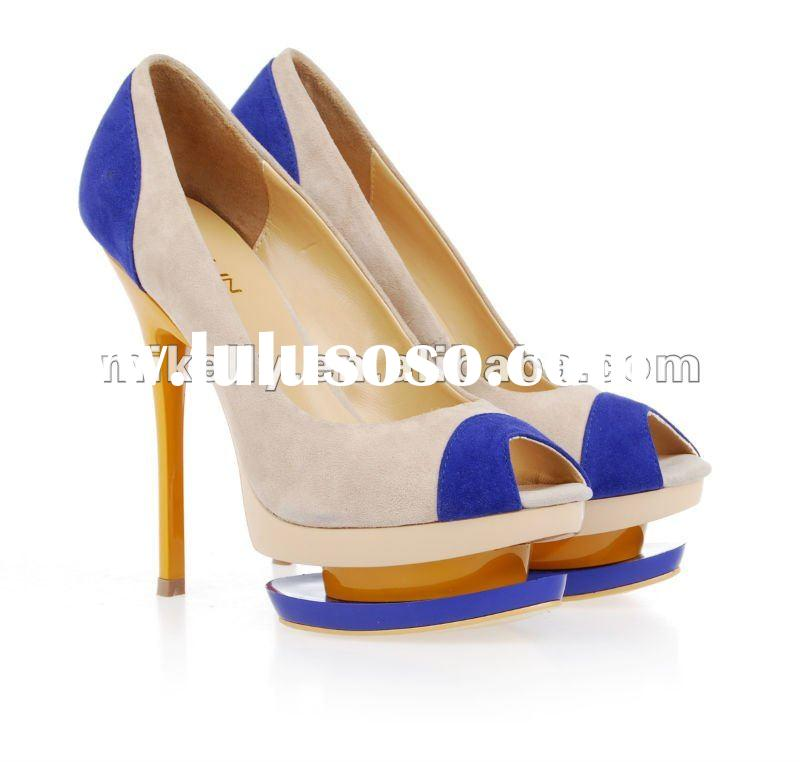 2012 hot sale high heels for women branded shoes fashion