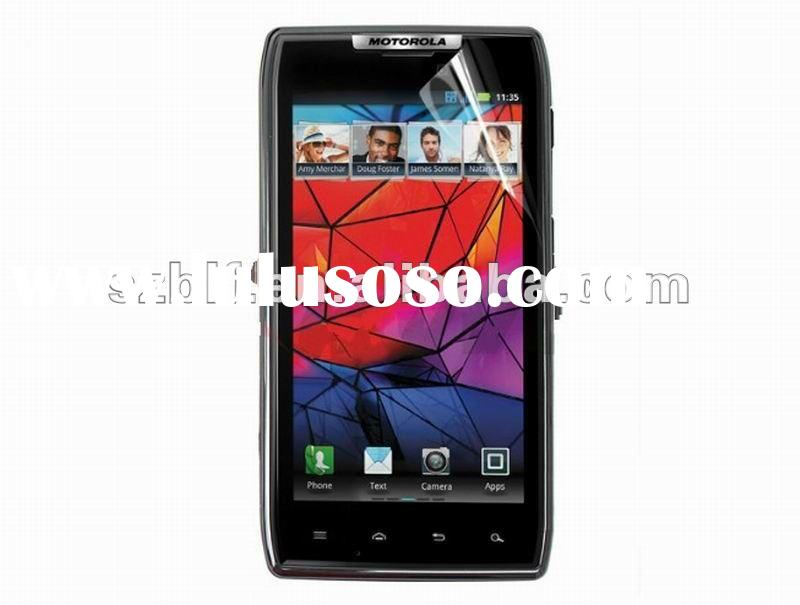 2012 popular for Motorola RAZR XT910 mobile phone screen protector factory supply