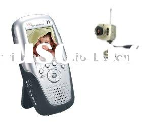 2.4GHz wireless palm baby monitor recorder support SD card.