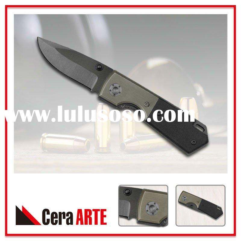 "3"" ceramic folding knife (mirror polished blade with Titanium handle)"