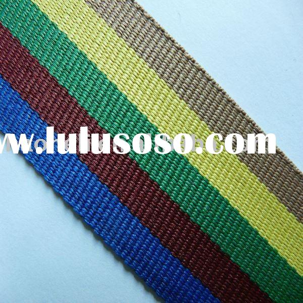 40mm striped cotton webbing,organic cotton webbing for bags