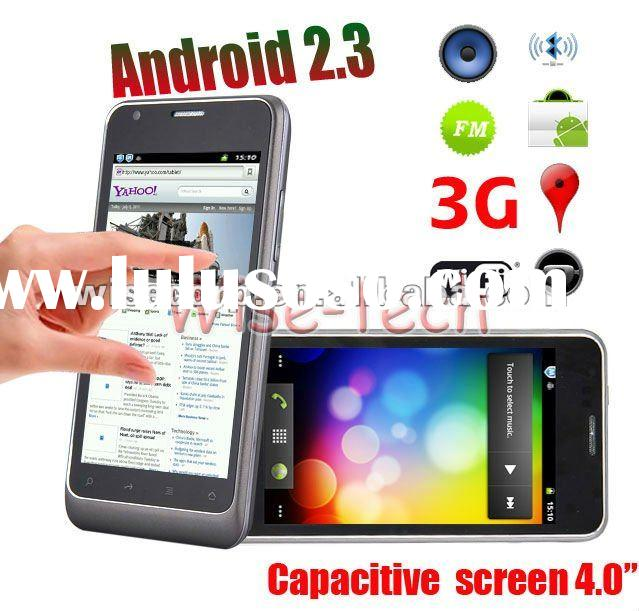 "4.0"" Capacitive Multi-touch Screen 3G WCDMA + Google Android 2.3 Smart Phone WiFi GPS Dual Sim"