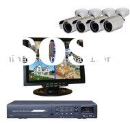 4 CH H.264 Surveillance Security CCTV DVR System