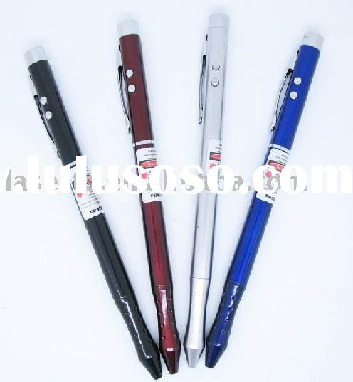 4 in 1 laser pen with laser pointer, pen, LED light and PDA stylus