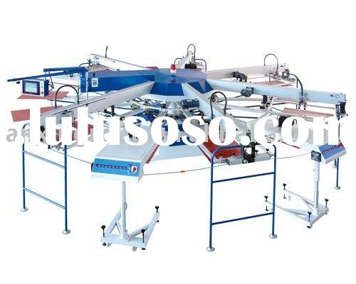 5 Colors & 7 Stations Automatic Textile/Garment Screen Printing Machine