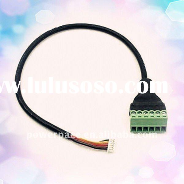 6-pin Terminal Block to 6-pin Housing Round Wire Cable Harness Assembly