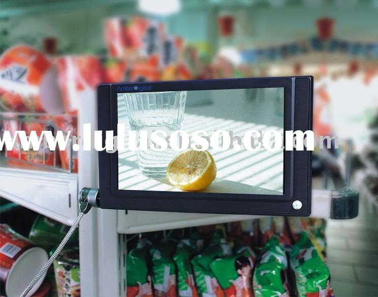 "7"" LCD advertising display, retail store media Player, Shelf edge video player, POP Displayers."