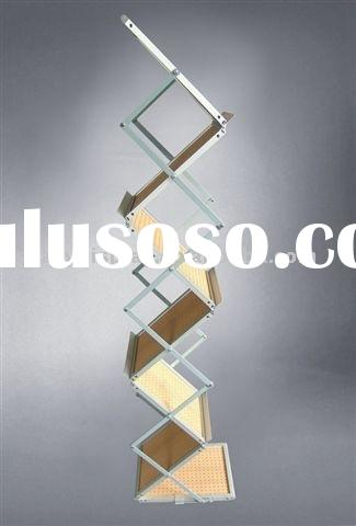 A4 acrylic brochure holder with aluminum case, Popular Z rack stand