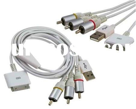 AV TV USB Audio&Video Cable for ipad iPhone 3G 3GS 4/4G