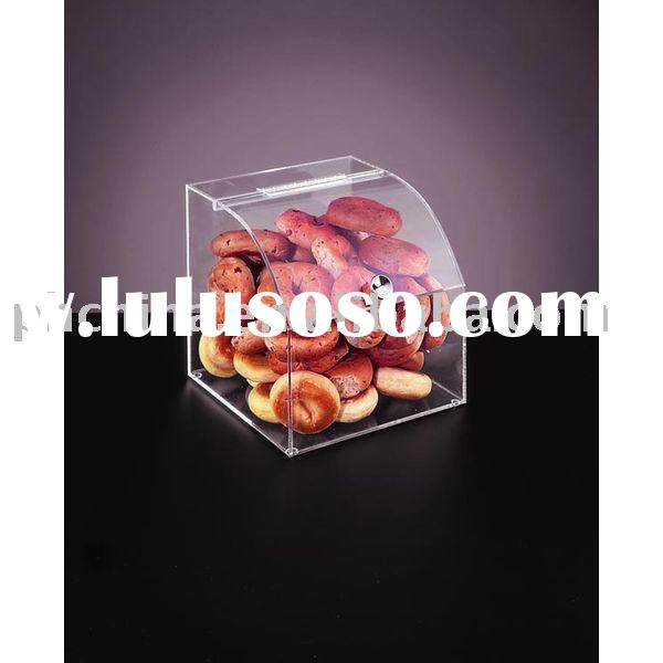 Acrylic Bakery Display Case,Acrylic Bulk Food Bin,Acrylic Bagel Storage