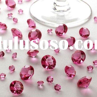 Acrylic Table Diamond Confetti Wedding Decorations