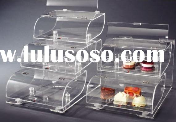Acrylic Triple Tier Bakery Display Case