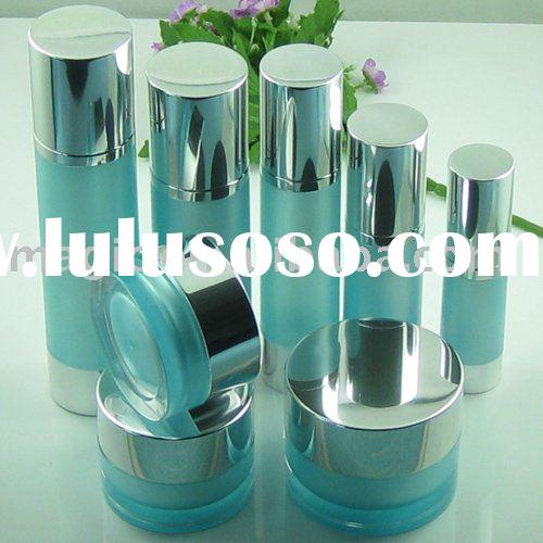 Acrylic jars with aluminum cap and airless bottles