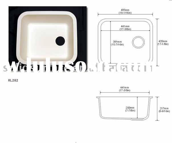 Acrylic solid surface sink