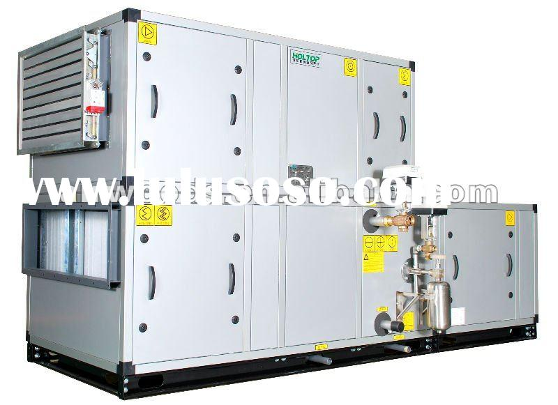 Air handling unit with plate heat exchange and cooling/heating coils