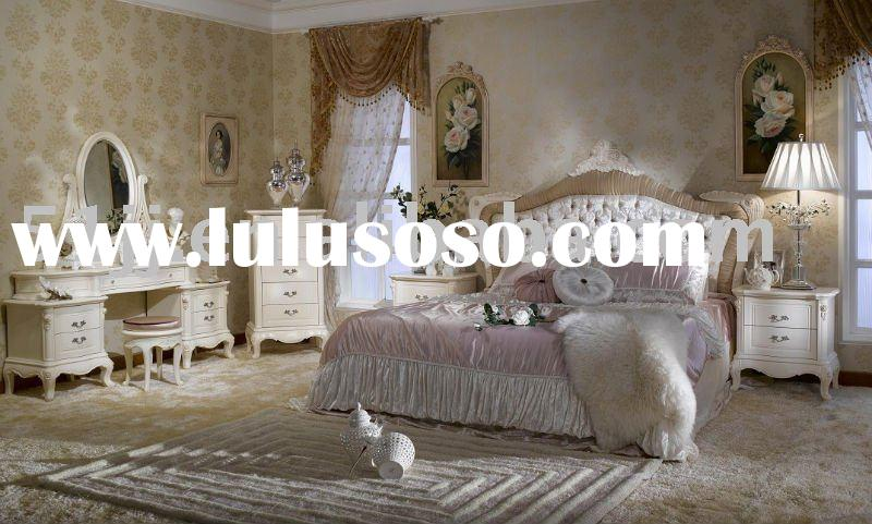 American/French Style Wooden Bedroom Sets Furniture BJH-601