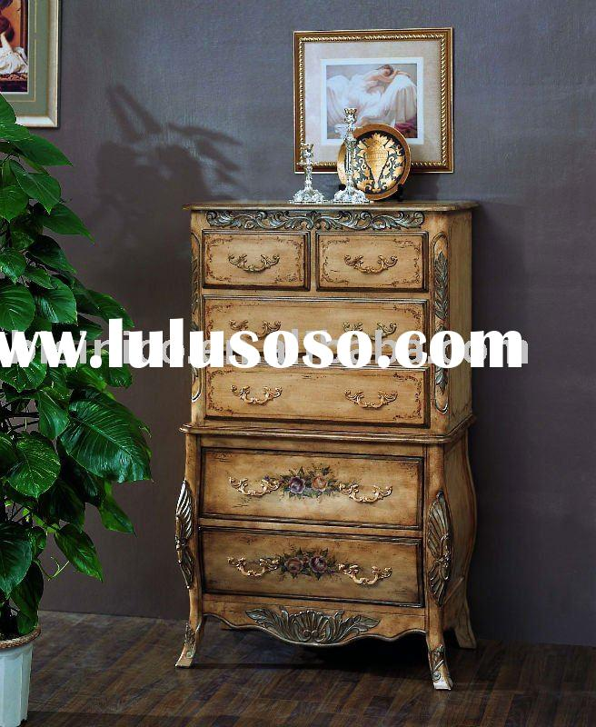 American hand painted chest,antique wooden furniture,American bedroom sets