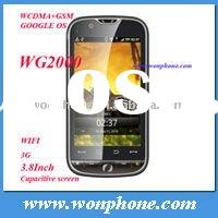 Android 3G dual sim Mobile Phone WG2000 CDMA GSM WIFI GPS 3.8inch capacitive Screen