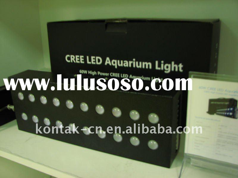 Aquarium LED Lights Fixture Coral Grow 60W Cree XR-E Royal Blue LED Aquarium Supplies