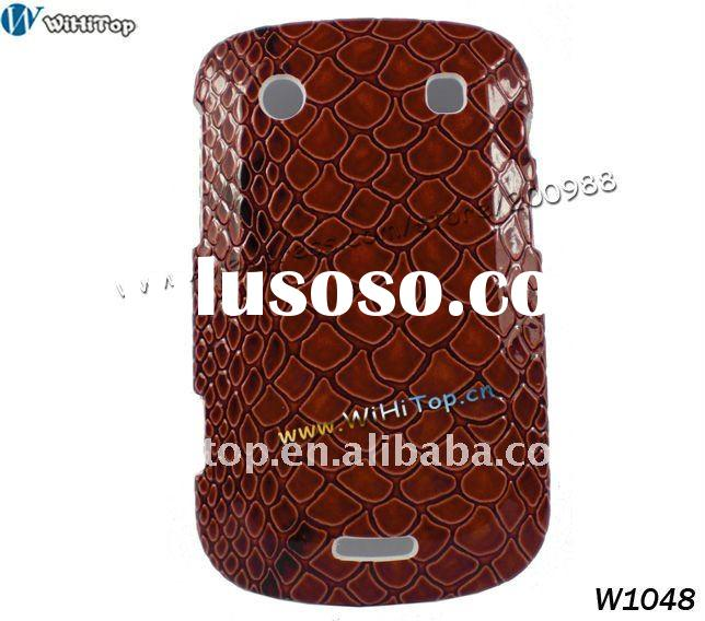 Back Cover Case for Blackberry Bold 9900 9930 Wine Red Snake Skin Pattern