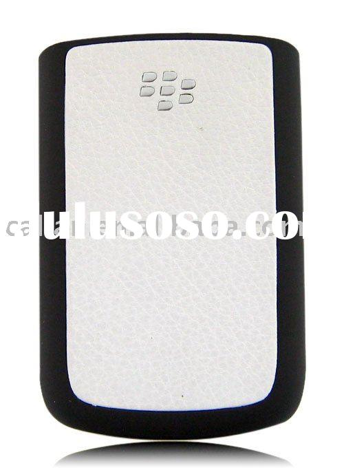 Battery cover for Blackberry bold 9700/blackberry Bold accessory(pearl white leather)