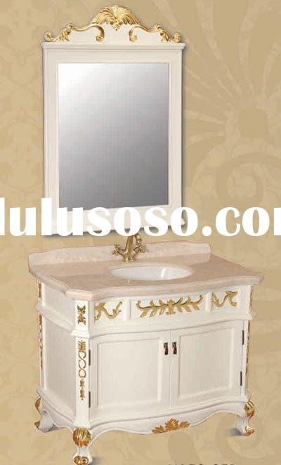 Beautiful Bathroom Cabinets,Bathroom Furniture with Mirror (Solid Oak Wood)