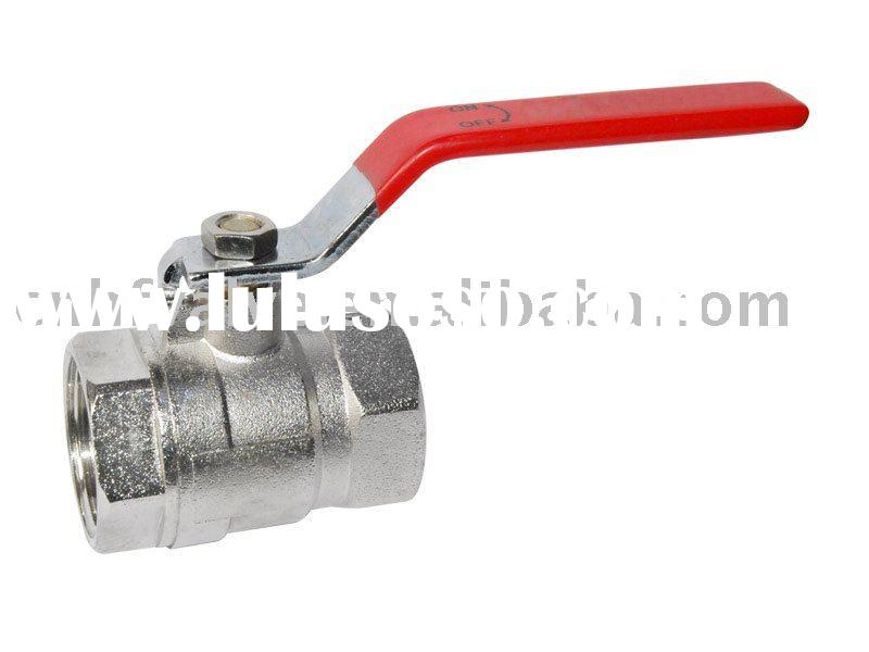 Brass Ball Valve,steel handle with plastic cover