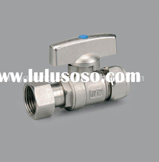 Brass union ball valve with butterfly handle for pex pipe