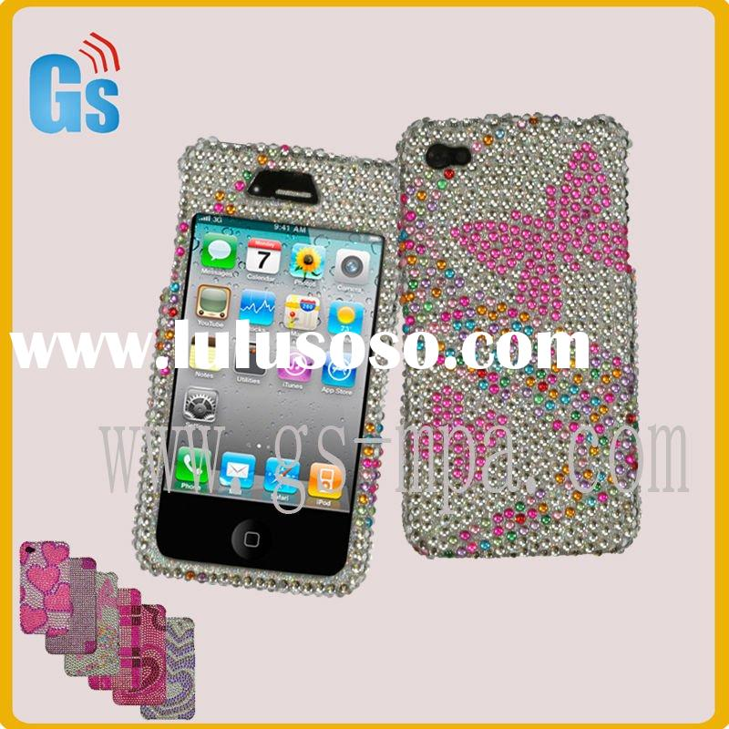 Butterfly diamond mobile phone case for iphone 4g