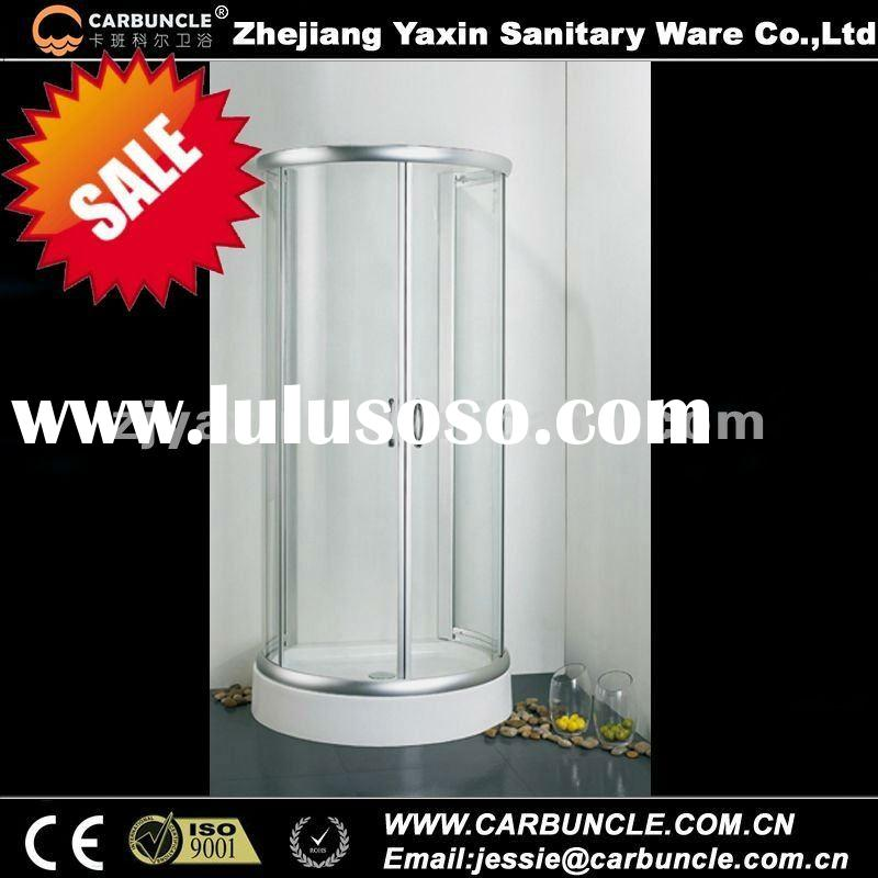 CARBUNCLE D-Shaped Sliding Shower Enclosure with ABS Tray JA545