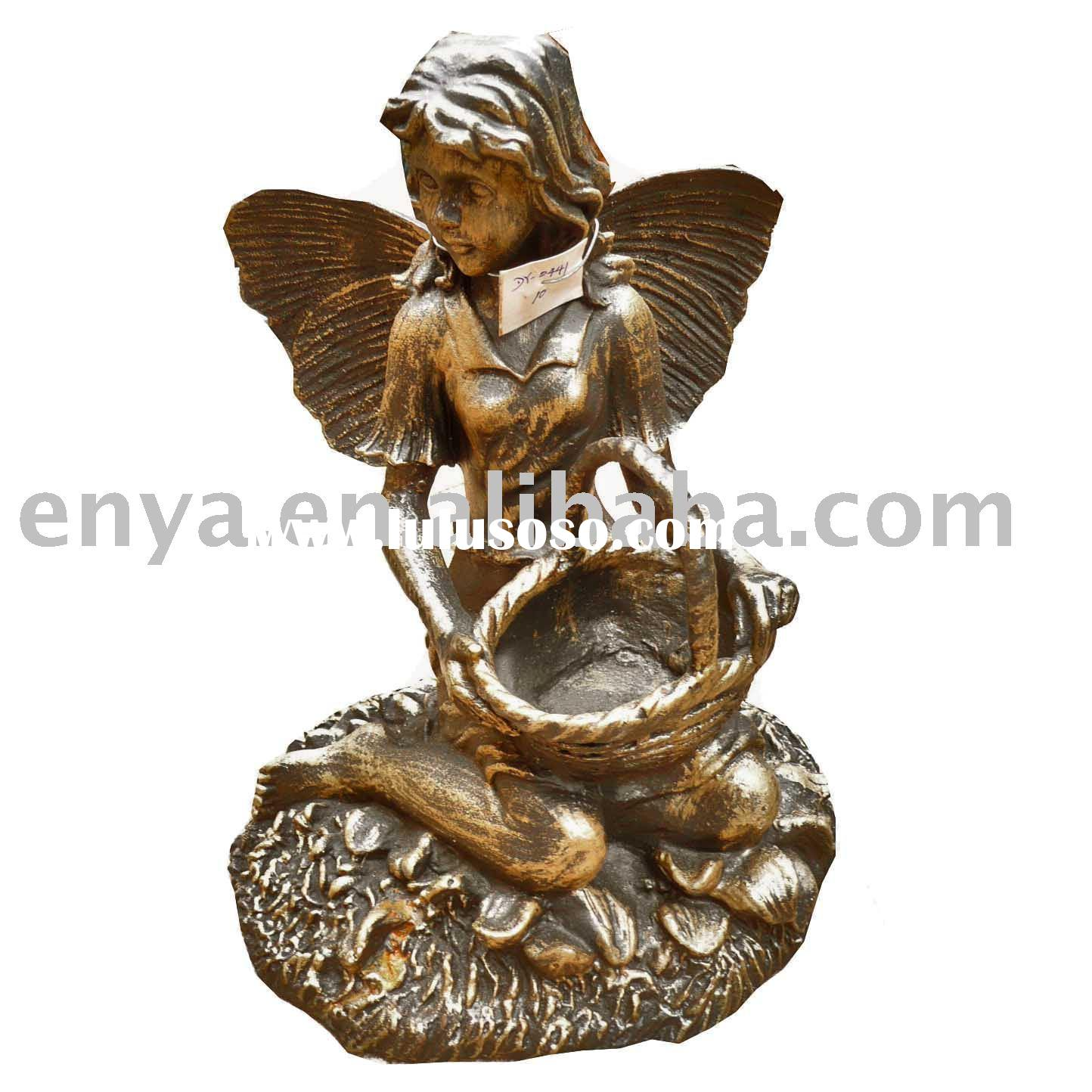 Cast Iron Sculpture, Angel Statue for Garden Ornament/Decoration
