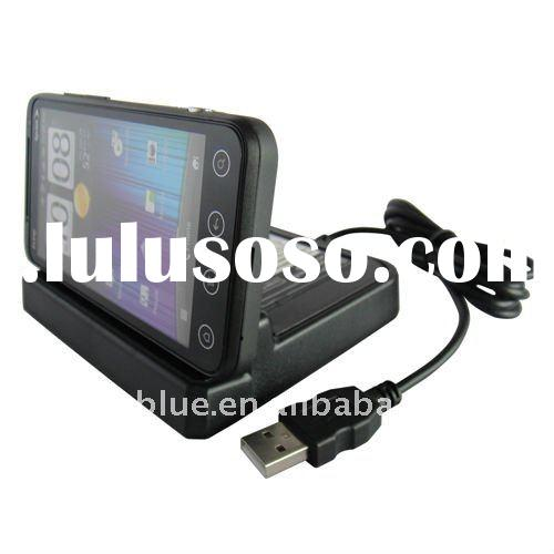 Charge Dual Dock Cradle for HTC EVO 3D,USB Desktop charging cradle with spare battery charger for HT