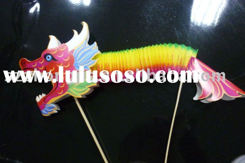 Chinese new year decoration with dragon shape