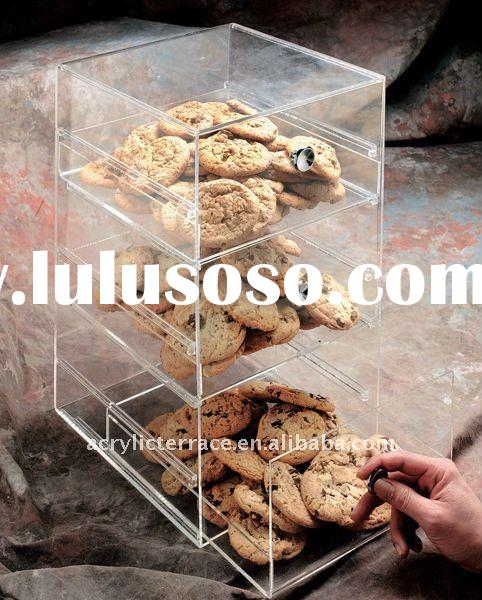 Clear Acrylic Countertop Cookie Display Case