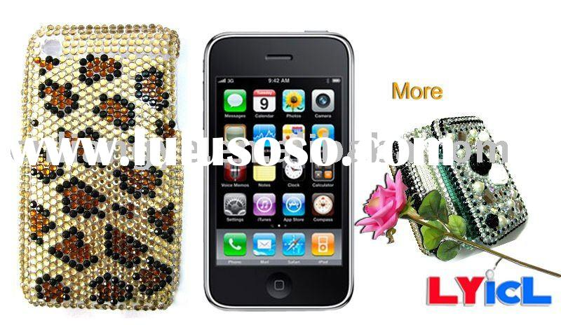 Colorful Jeweled Rhinestone Plastic Case for Apple iPhone 3G/3GS (Accept Paypal)