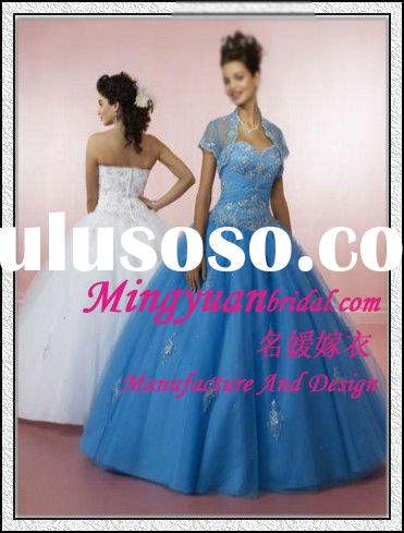 Colorful Neckline 2012 Elegant Cheap Tulle Ball gown prom gown