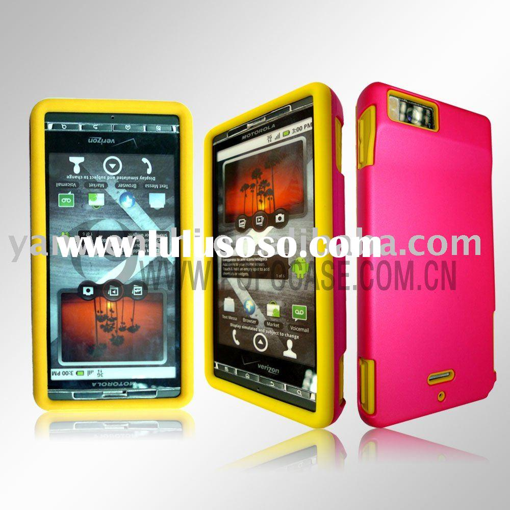 Combo Case for Motorola Droid X MB 810(the best combination of silicone case and crystal cover)