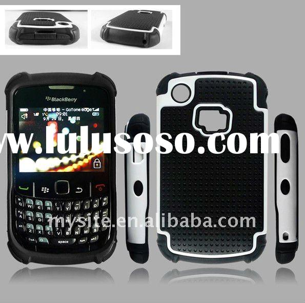 Custom Cell Phone Silicon PC TPU Combo Case Covers for BlackBerry Curve 8520